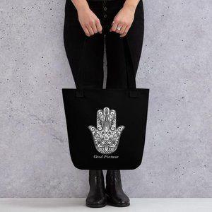 Hamsa Hand Reusable Tote Bag, Yoga Bag, Beach Bag,